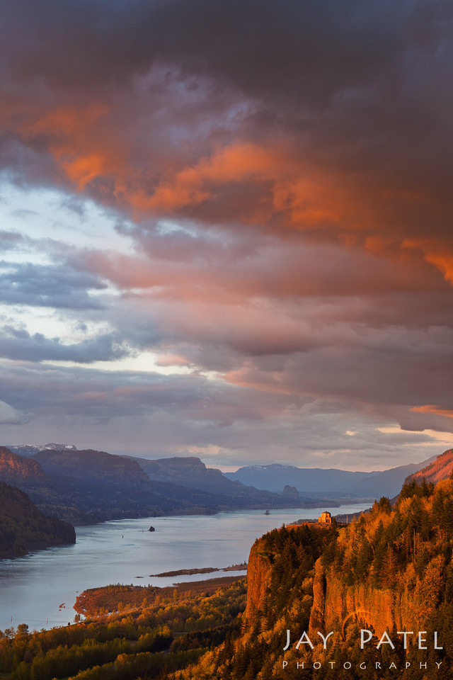 Crown Point Overlook, Columbia River Gorge, Oregon (OR), USA