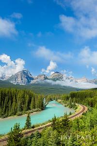 Morant's Curve, Banff National Park, Alberta, Canada