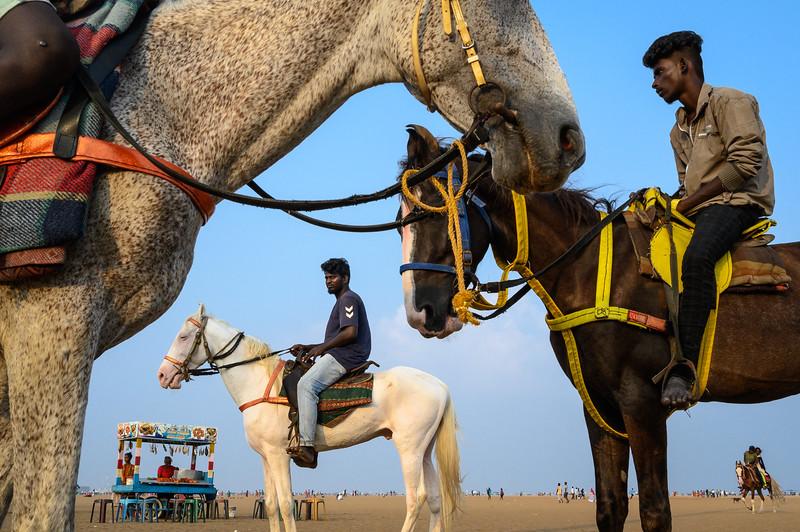 Marina Beach, Chennai, India. 2019