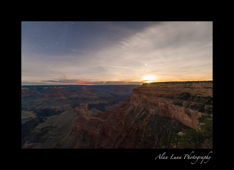 """Moonrise over the Grand Canyon"""