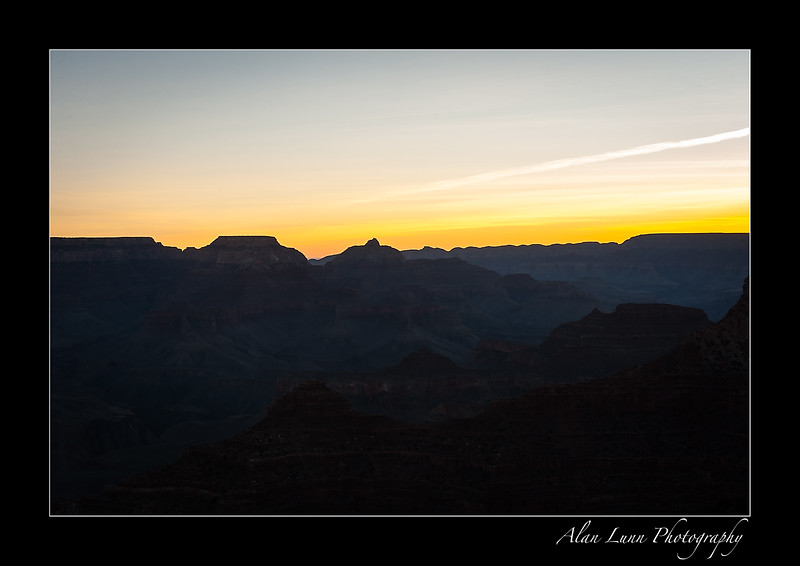 """Last Light over the Rim"""