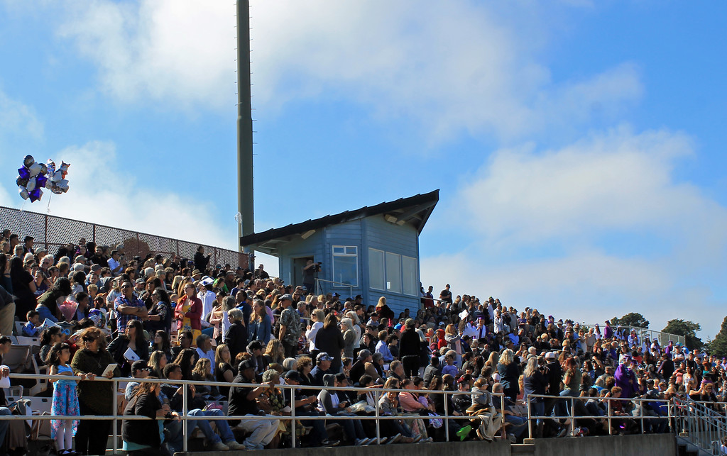 . Timberwolf Stadium was filled with family and friends for the ceremony.