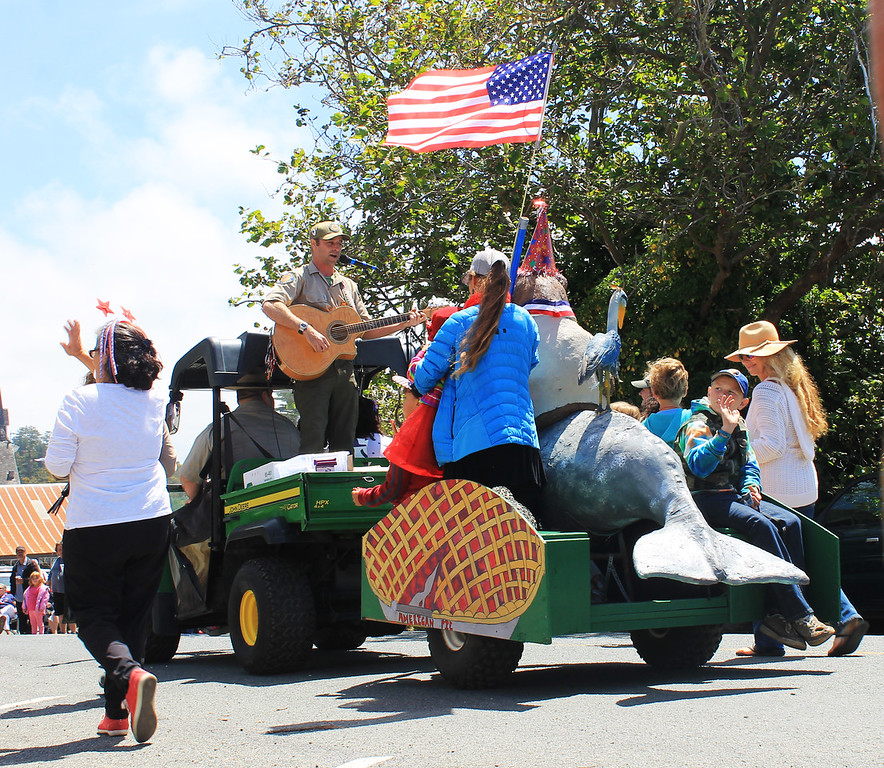 """. State Parks personnel treated the crowd to a rendition of \""""American Pie\""""."""