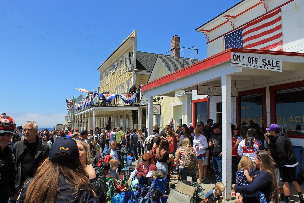 . Post parade festivities on Main Street.