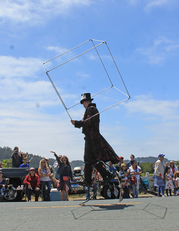 . Flynn Creek Circus unicyclist.
