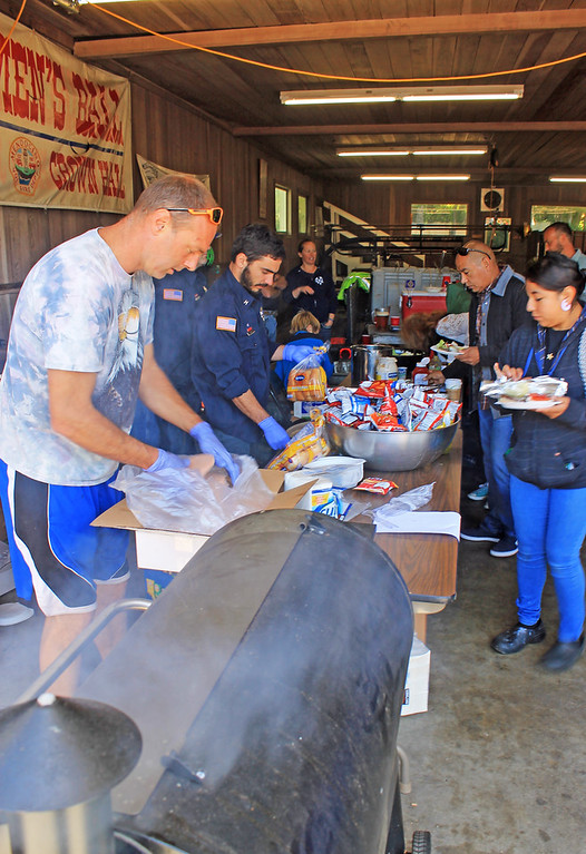 . Mendocino firefighters whipped up a barbecue to keep the day\'s enjoyments going.