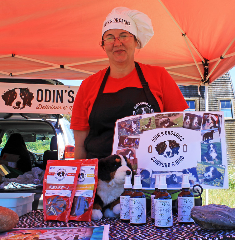 . Shannon Furr of Odin�s Organics, with her organic freeze-dried, non-meat dog treats.