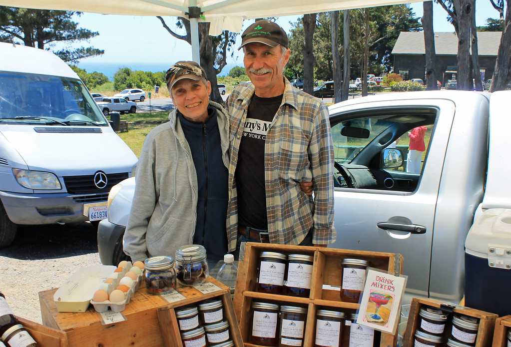 . Nikki Ausschnitt and Steve Krieg of Petit Teton Farm in Anderson Valley.