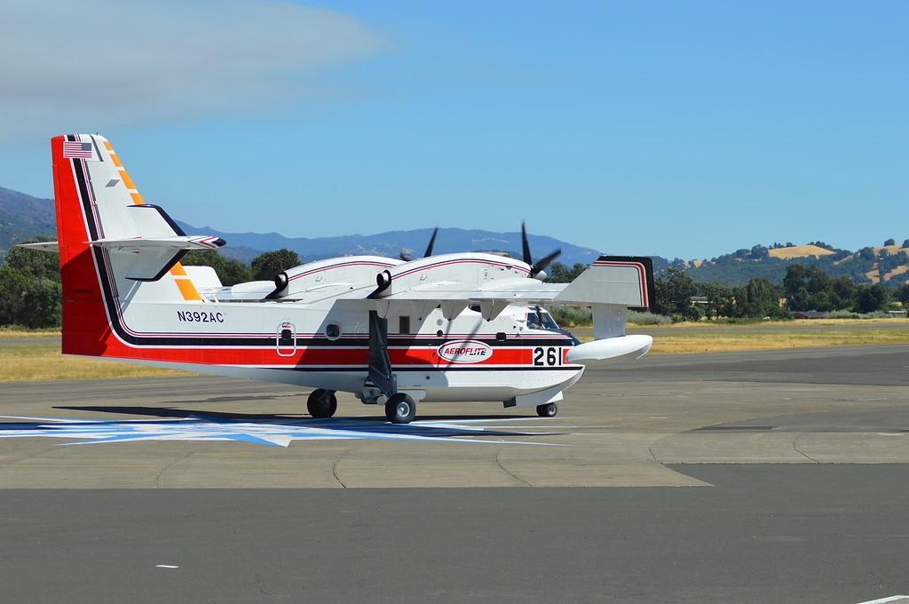 . Super Scooper CL-415 Unit 261 at Ukiah Airport (Unit 260 was also in) 080618-G Owen