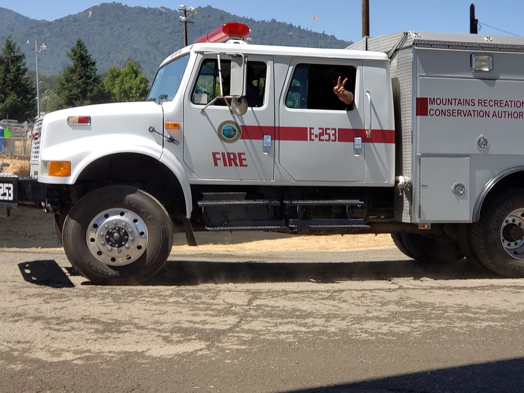 . Mountains Recreation and Conservation Authority (MRCA) Fire Division E253 in Ukiah 080318-M Kelly