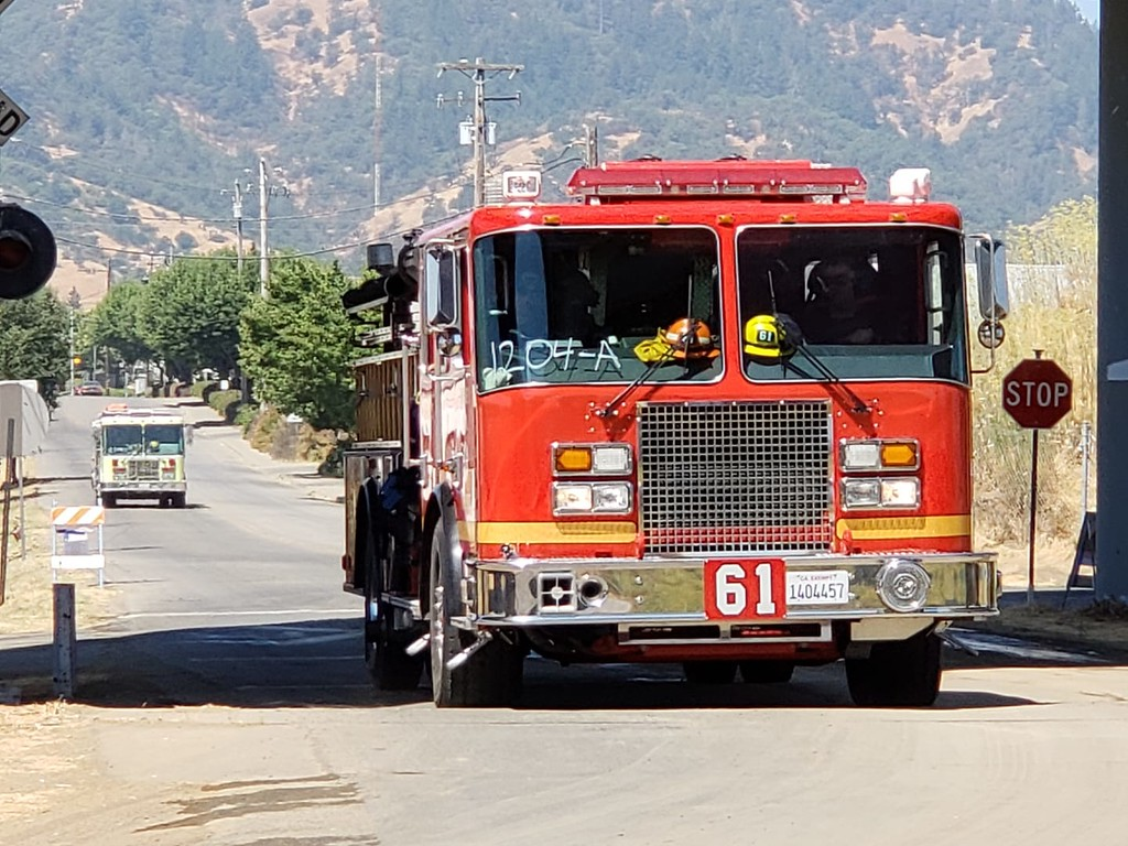 . 2 of dozens of units that converged at the incident command post in Ukiah 080318-M Kelly