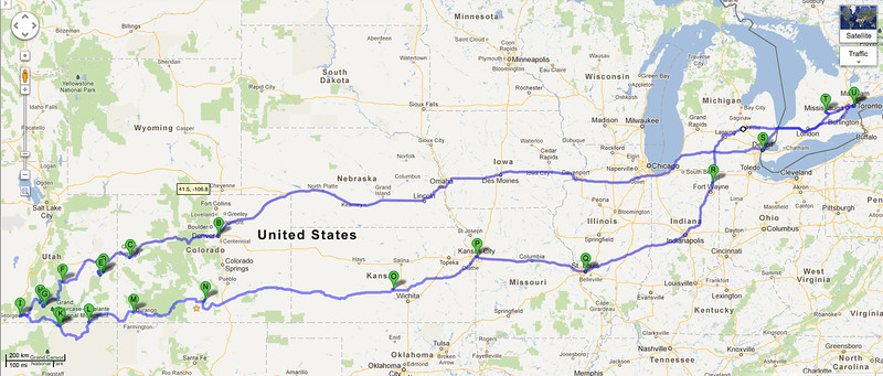 The approximate route