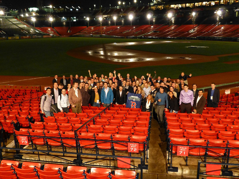 The DAA members at Fenway Park