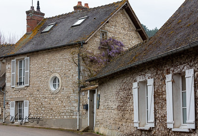 Europe, France, Giverny.  Baudy bed and breakfast.