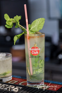 A mojito-a traditional Cuban cocktail.