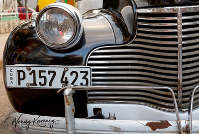 Grille and headlight.