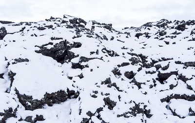 Snow on Lava Rock