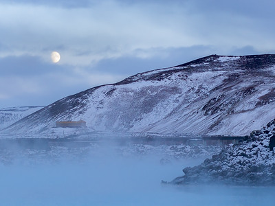 Moonrise Over Blue Lagoon