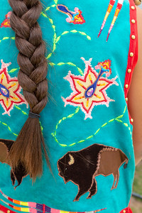 Native American Regalia Details with Braid