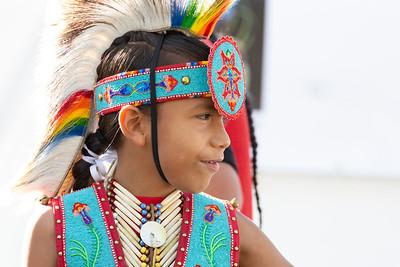 Native American Boy in Profile