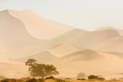 Sandstorm at Sossusvlei