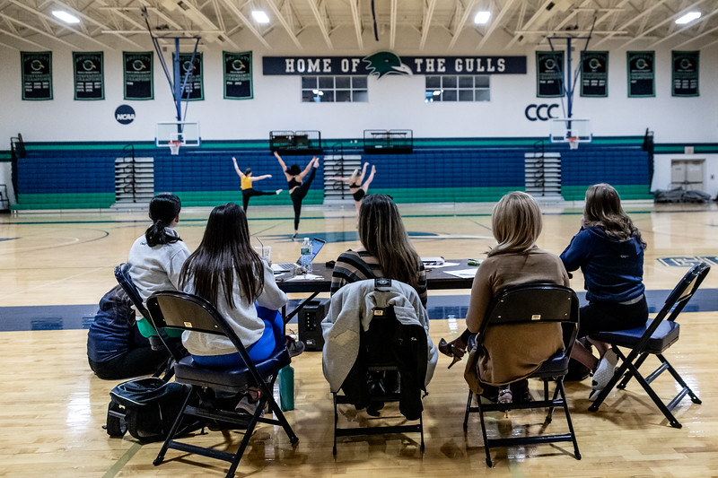 Endicott College Dance Team holds auditions on May 5th. 2019.