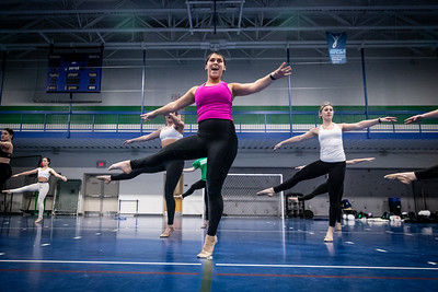 The Endicott College Dance Team prepares for their nationals performances.