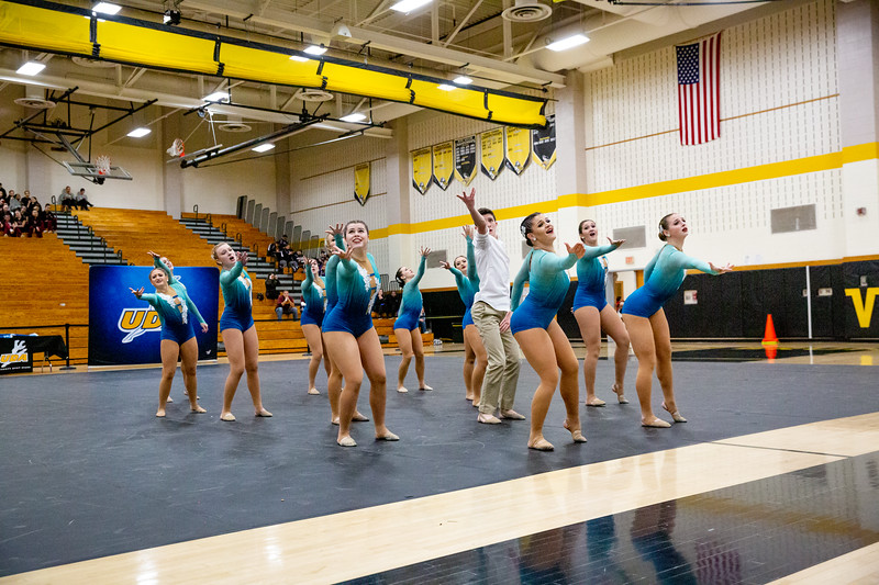 The Endicott College Dance Team competes at the Battle of the Northeast competition at South Brunswick High School in Monmouth Junction, NJ on January 12th, 2020.