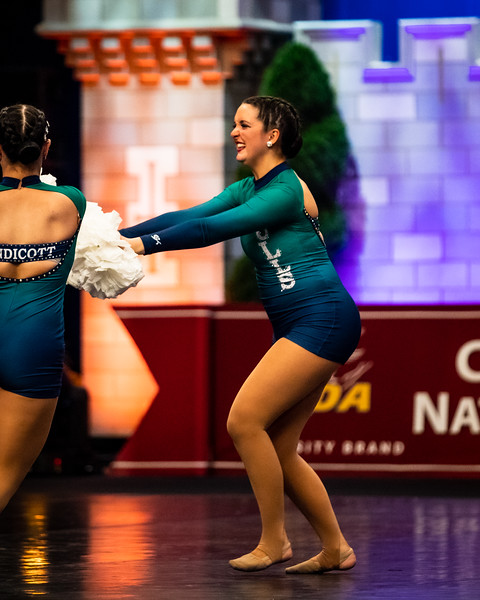 The Endicott College Dance Team competes at the UDA Nationals competition in the Open Pom category, at ESPN Wide World of Sports in Orlando, FL on January 17th, 2020.