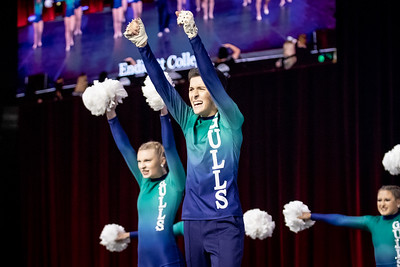 The Endicott College Dance Team competes for a national championship the UDA Nationals competition in the Open Pom category, at ESPN Wide World of Sports in Orlando, FL on January 17th, 2020.