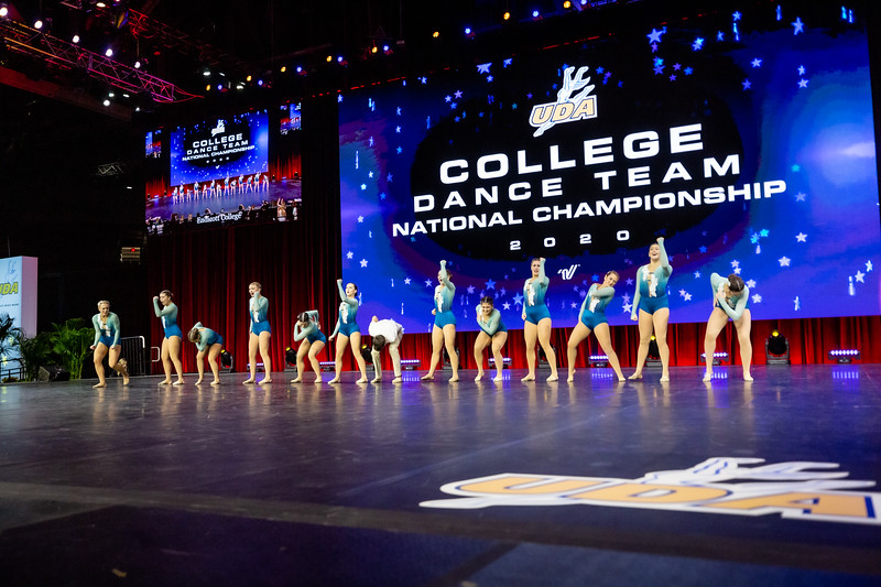 The Endicott College Dance Team competes for a national championship the UDA Nationals competition in the Open Jazz category, at ESPN Wide World of Sports in Orlando, FL on January 19th, 2020.
