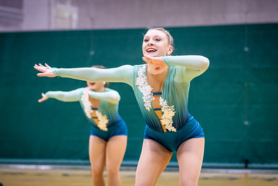 The Endicott College Dance Team competes in their jazz routine at their regional competition. The New England Dance Championship took place at Westfield State University on February 16th, 2020.