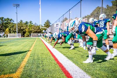 Endicott College Football takes on Wesley College Wolverines at Hempstead Stadium on September 13th, 2019.