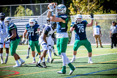 Endicott College Football takes on Wesley College Wolverines at Hempstead Stadium on September 13th, 2019.