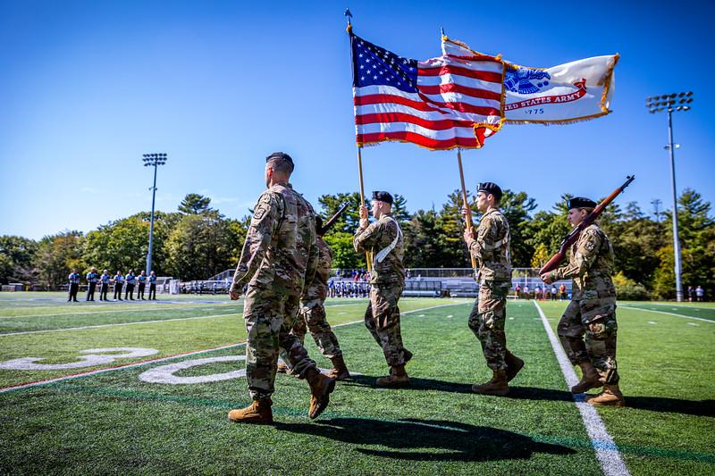 Endicott College Football takes on the Becker College Hawks at Hempstead Stadium on September 28th, 2019.