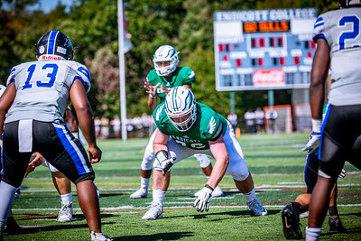 Endicott College Football takes on the Becker College Hawks at Hempstead Stadium on September 28th, 2019.