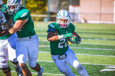Endicott College Football takes on Curry College at Hempstead Stadium on October 12th, 2019.