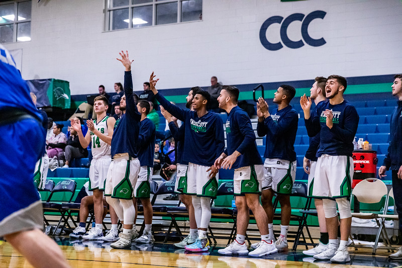 Endicott College Men's Basketball takes on the University of New England Nor'Easters at MacDonald Gymnasium on December 4st, 2019.