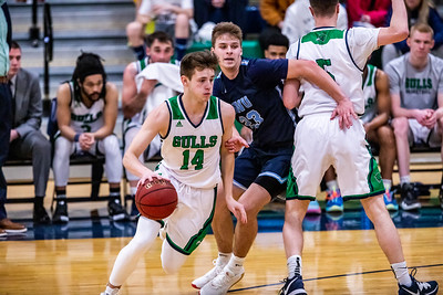 Endicott College Men's Basketball takes on the Roger Williams Hawks