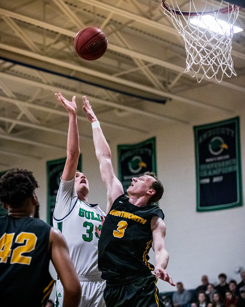 Endicott College Men's Basketball takes on the Wentworth Leopards at McDonald Gymnasium in the Commonwealth Coast Conference (CCC) Tournament semi-finals on February 27th, 2020