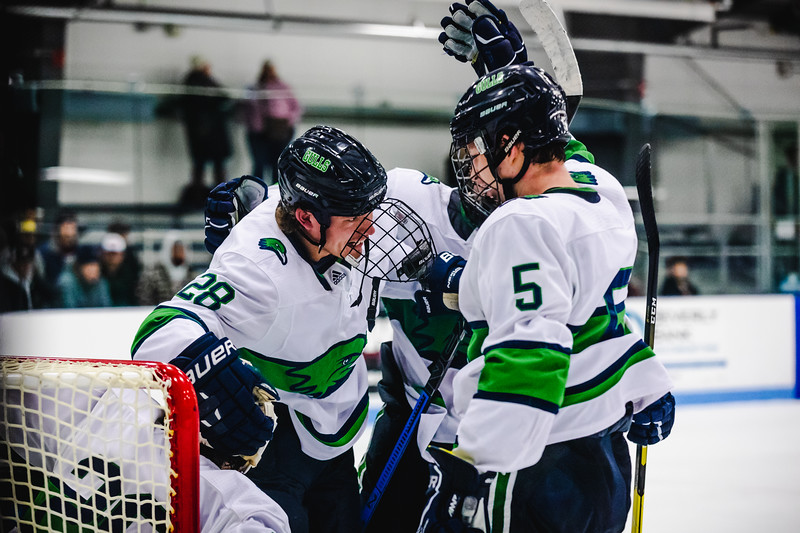 Endicott College Men's Hockey takes on the Nichols College Bison at Bourque Arena on November 16th, 2019.