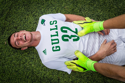 Endicott Senior, Ryan Cohane with nothing but joy on his face after winning the Commonwealth Coast Conference soccer championship. Endicott defeated Gordon in overtime 1-0.