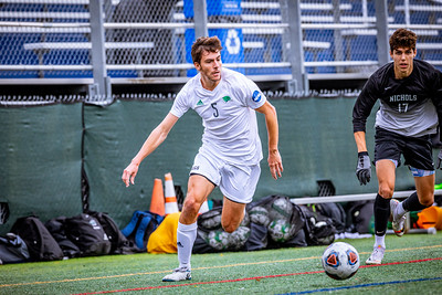 Endicott College Men's Soccer takes on the Nichols College Bison at Hempstead Stadium on October 12th, 2019.
