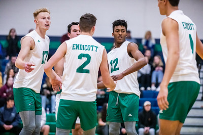 Endicott College Men's Volleyball takes on the Lasell University Lasers at MacDonald Gymnasium on January 29th, 2020.