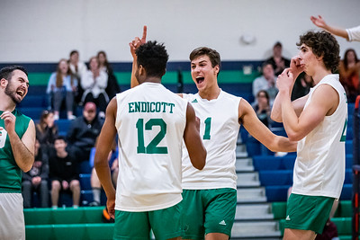 Endicott College Men's Volleyballs takes on the Stevens Ducks at McDonald Gymnasium on February 23rd, 2020