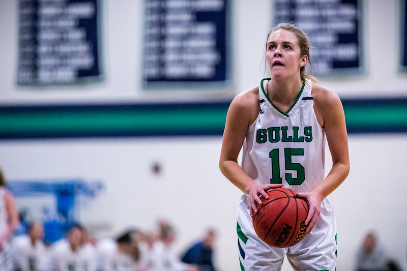 Endicott College Women's Basketball takes on the University of New England Nor'Easters at MacDonald Gymnasium on December 4th, 2019.