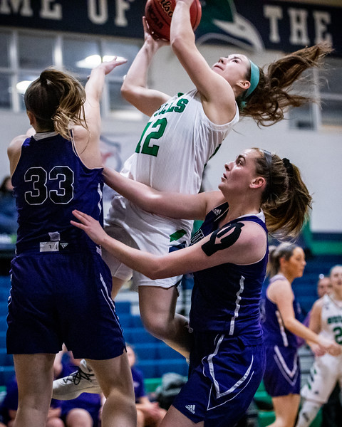 Endicott College Women's Basketball takes on the Curry College Colonels at McDonald Gymnasium in the Commonwealth Coast Conference (CCC) Tournament quarterfinals on February 25th, 2020