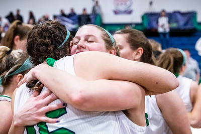 Endicott College Women's Basketball takes on the University of New England Nor'Easters at McDonald Gymnasium For the Commonwealth Coast Conference (CCC) Championship on February 29th, 2020