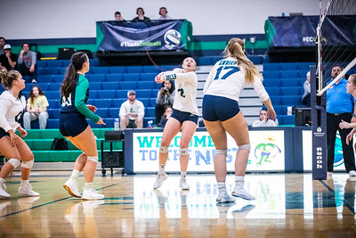 Endicott College Women's Volleyball takes on Tufts University Jumbo's at MacDonald Gymnasium on September 13th, 2019.