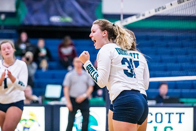 Endicott College Women's Volleyball takes on the Middlebury College Panthers at McDonald Gymnasium on October 5th, 2019.